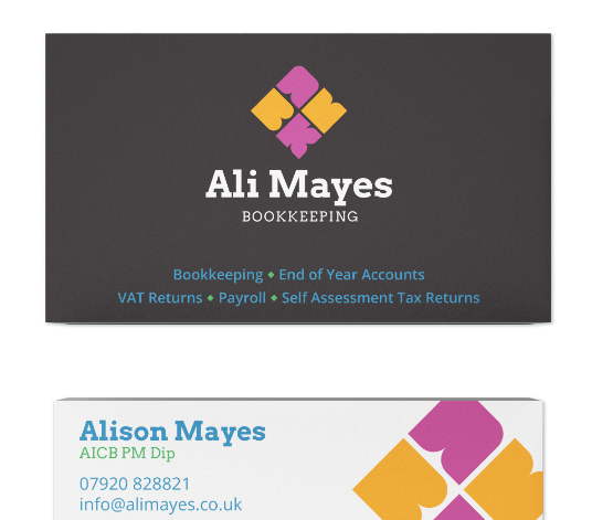 Ali Mayes Business Cards