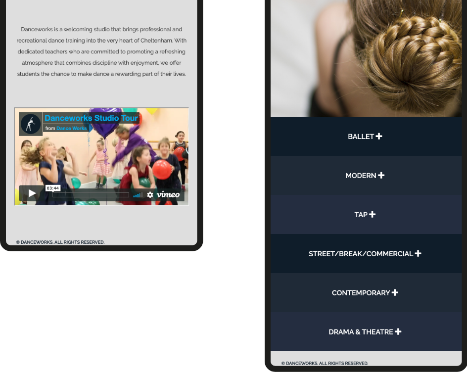 Danceworks Web Site
