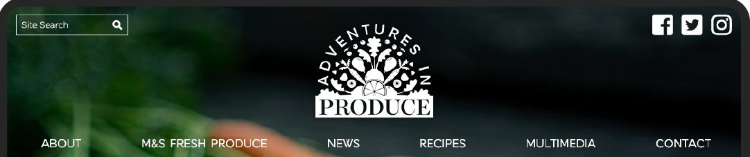 Marks & Spencer Adventures in Produce Web Site