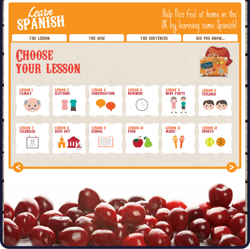 Picota Cherries Web Site