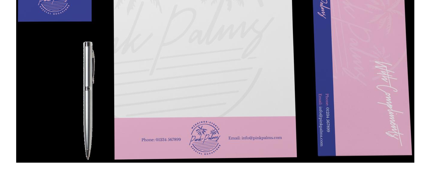 Pink Palms Stationery