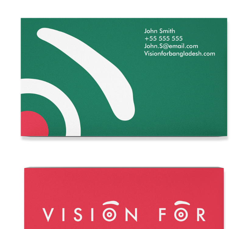Vision for Bangladesh Business Cards