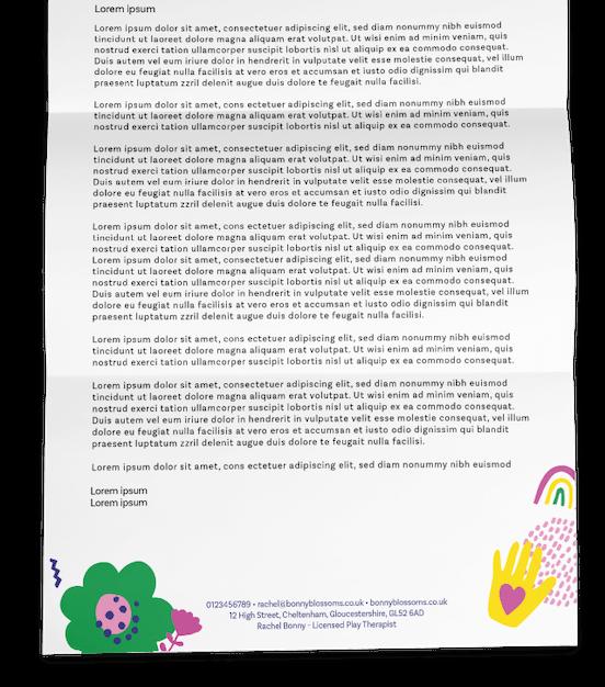 Bonny Blossoms Letter