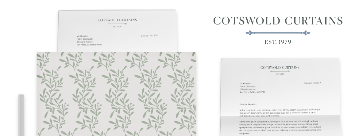 Cotswold Curtains Letter Heading