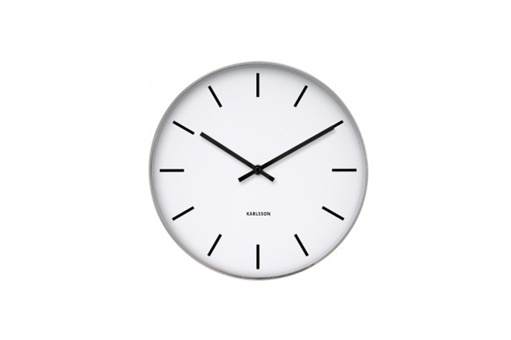 Karlsson Makes A Range Of Beautifully Simplistic, But Well Designed Clocks.  This Particular One Is Beautifully Minimalist, But With Great Spacing  Between ...